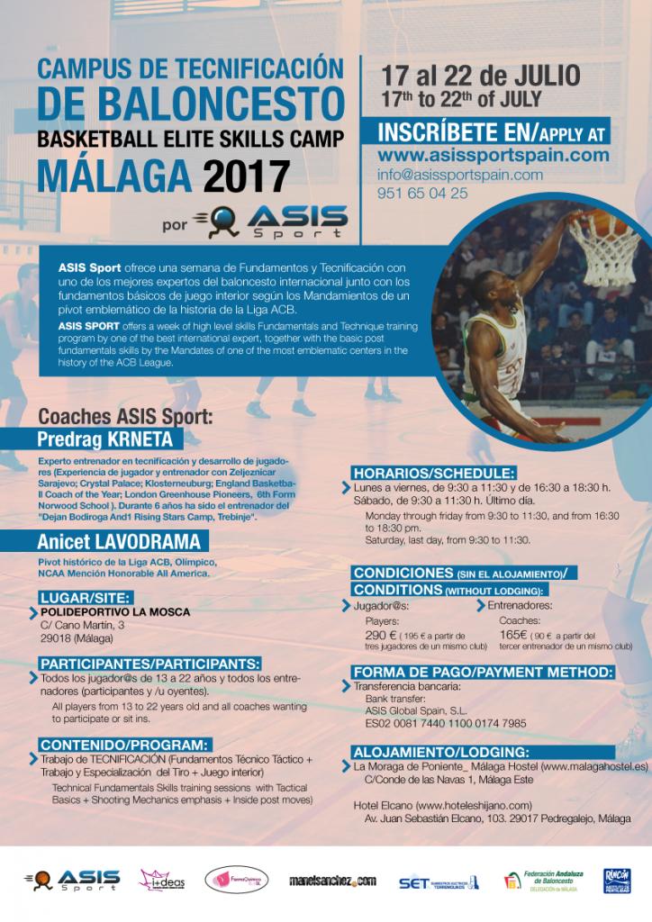 Cartel-tecnificacion-basquet-Malaga-2017
